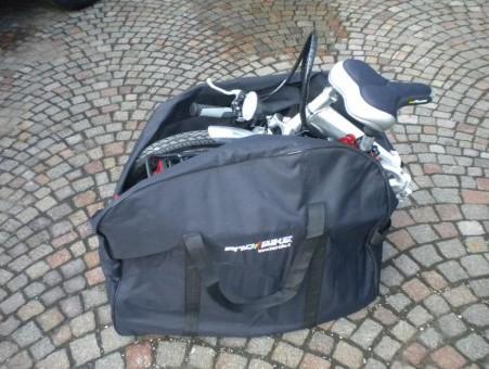 velo pliant avec sacoche de transport